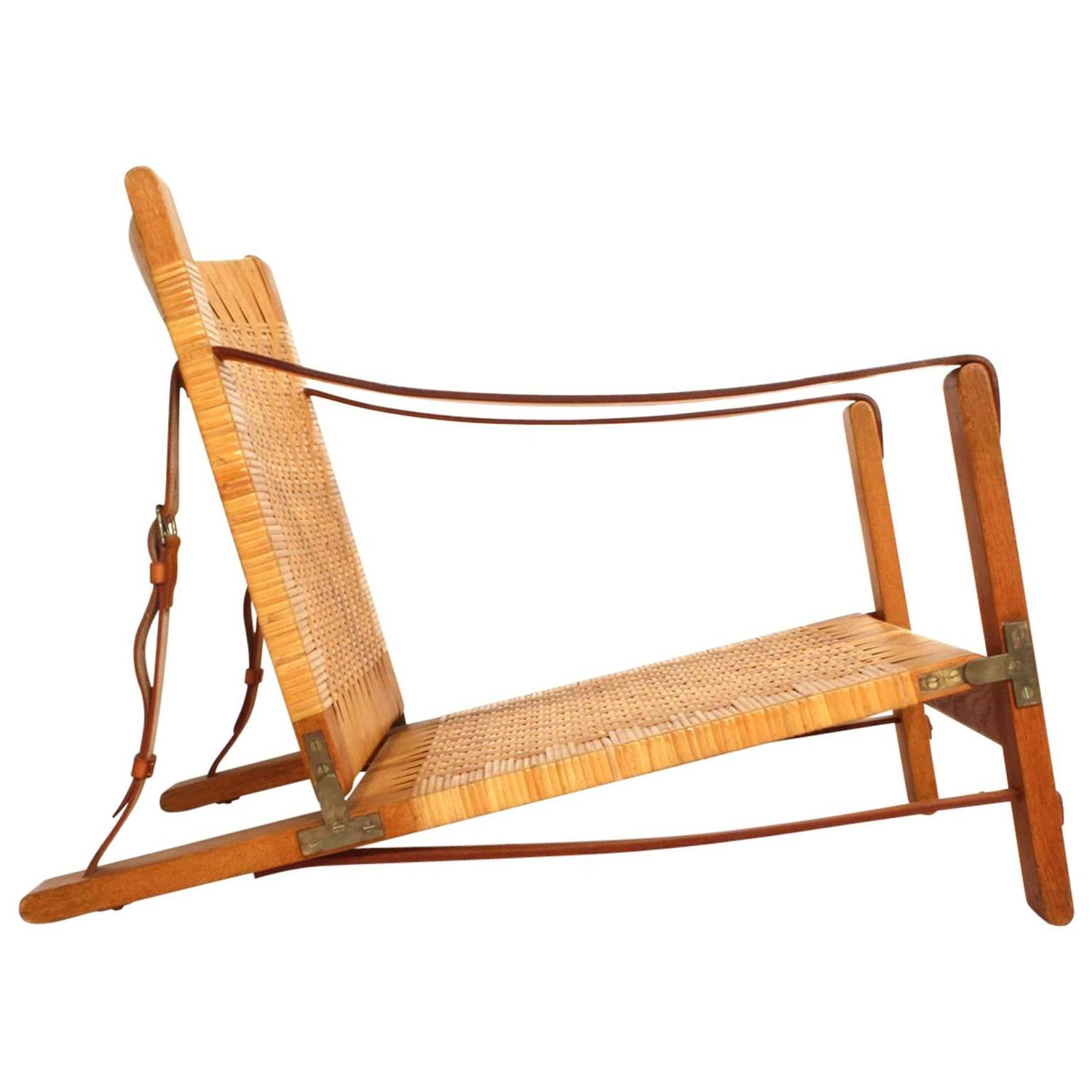 Extremely Rare B¸rge Mogensen Hunting Chair by Cabinetmaker Erhard