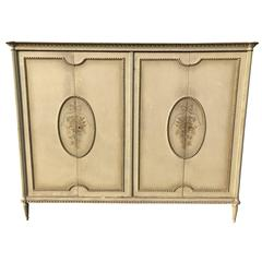 Stunning, 1930s Original Painted French Four-Door Armoire