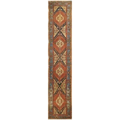 Antique Long Persian Heriz Runner Rug
