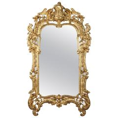 19th Century Giltwood Mirror in Louis XV Style