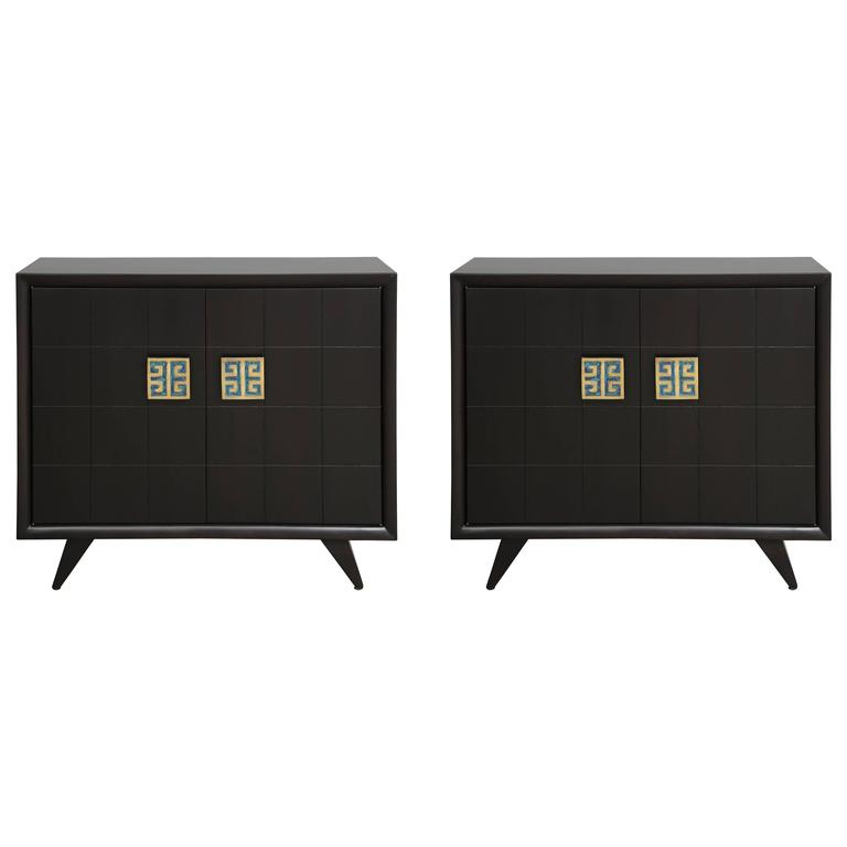 Grosfeld House Dressers with Pepe Mendoza Pulls, signed For Sale