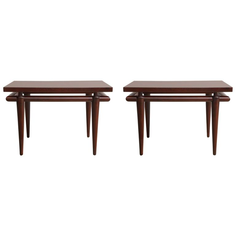 Widdicomb Rosewood Mid-Century Side Tables For Sale
