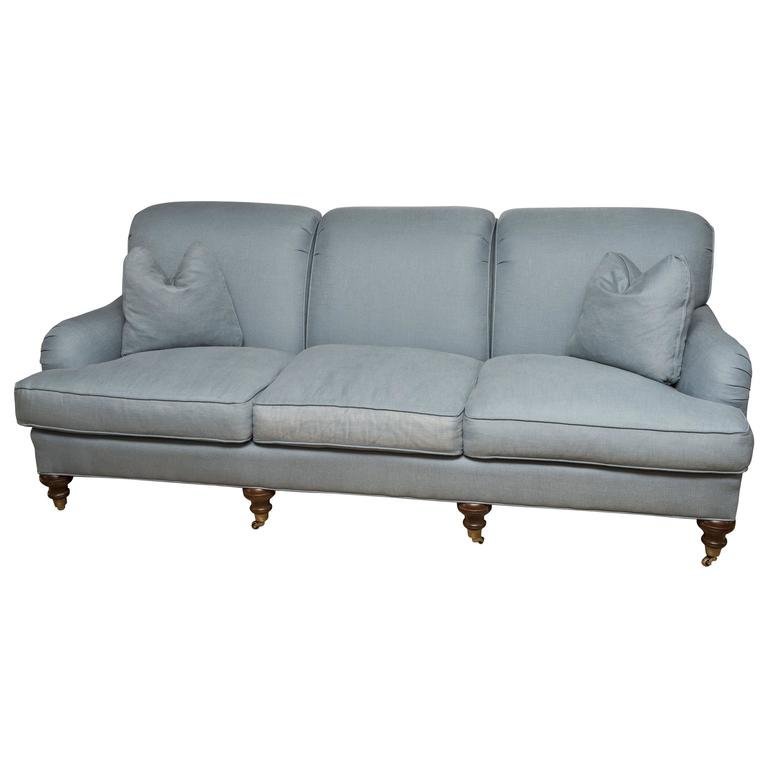 Blue english sofa for sale at 1stdibs for Blue sofas for sale