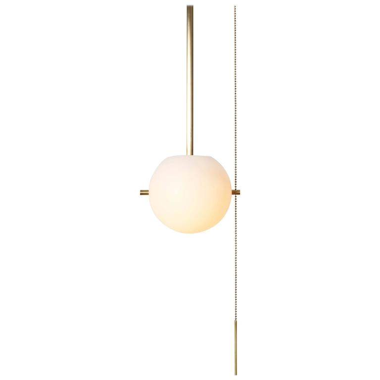 Workstead Signal Pendant In Br With N Gl Globe And Pull Chain For