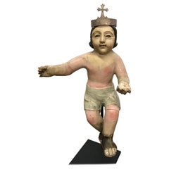 19th Century Polychrome Nino Santo