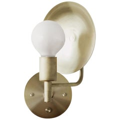 Workstead Orbit Sconce with Spun Brass Swivel and Convex Reflector