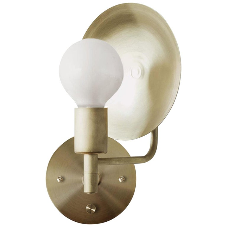 best service 4ba1a 03e49 Workstead Orbit Sconce with Spun Brass Swivel and Convex Reflector