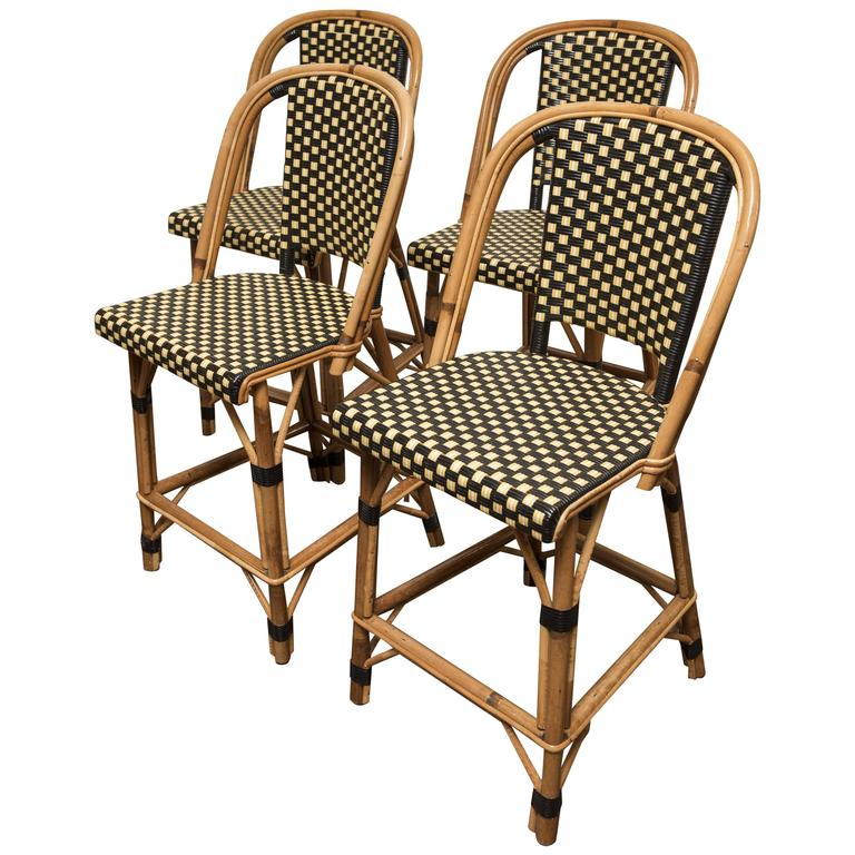 Original French Bistro Counter Chairs For Sale At 1stdibs