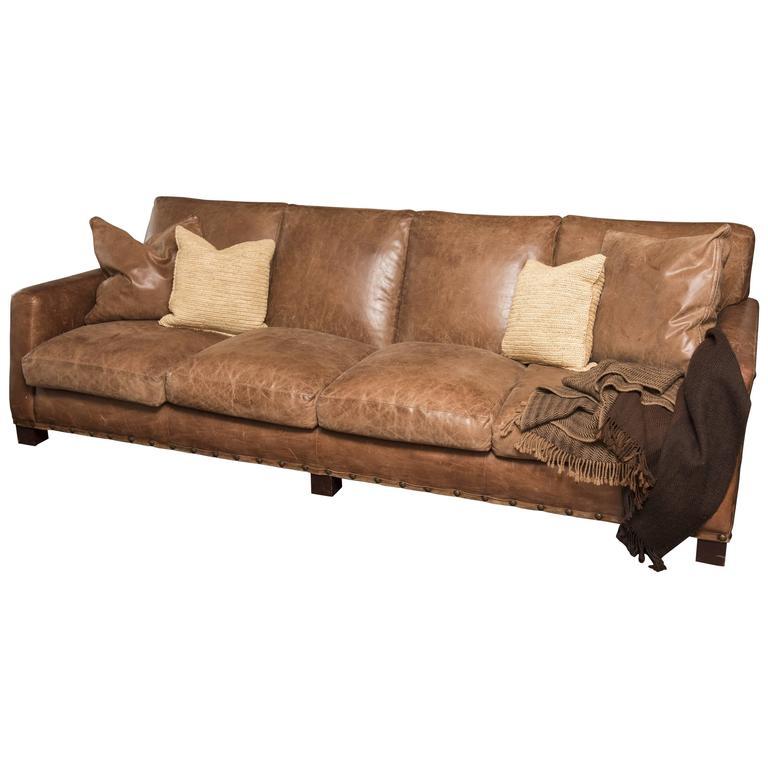 Vintage Ralph Lauren Leather Sofa For