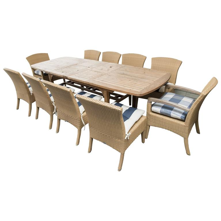 Gloster Outdoor Dining Set at 1stdibs