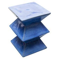 Cobalt Ceramic Garden Seat