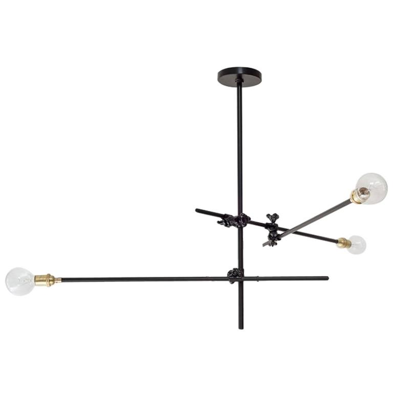 Workstead industrial chandelier with three arms and adjustable cast workstead industrial chandelier with three arms and adjustable cast iron clamps for sale aloadofball Choice Image