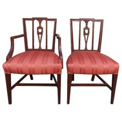 American Charleston Mahogany Upholstered Arm & Side Chair, Circa 1790