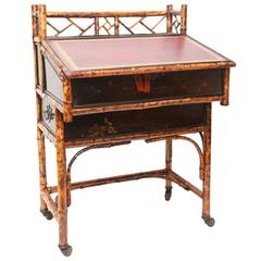 19th Century English Bamboo Desk