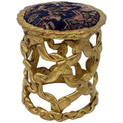 Vintage 'Ribbon' Stool by Tony Duquette