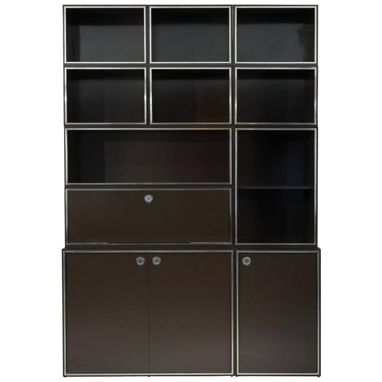 1970s Modular Wall Unit Attributed to Willy Rizzo 1
