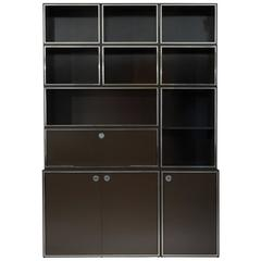 """expansive mid-century modern """"omni"""" wall unitgeorge nelson for"""