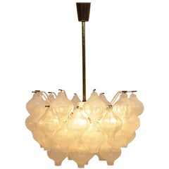 Kalmar Tulipan Chandelier with 41 Glass Spheres for Kalmar Lightning, Austria
