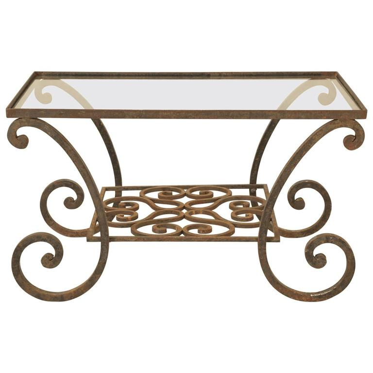 Vintage French Indoor or Outdoor Iron Coffee Table