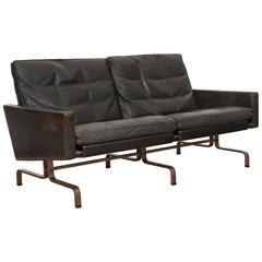 Special Order Made by P. Kjærholm, PK 31 Sofa with Gun Barrel Steel Legs