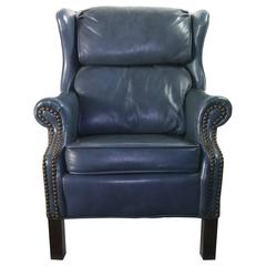 Child's Executive in Training Leather Wing Back Arm Chair by Bradington Young