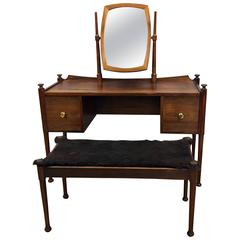 Danish Rosewood Dressing Table and Stool