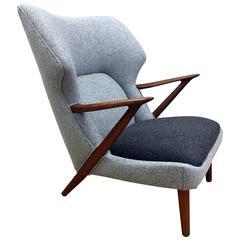Lounge Chair by Kurt Olsen for Slagelse Mobelvaerk