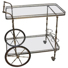 English Brass Cocktail Trolley