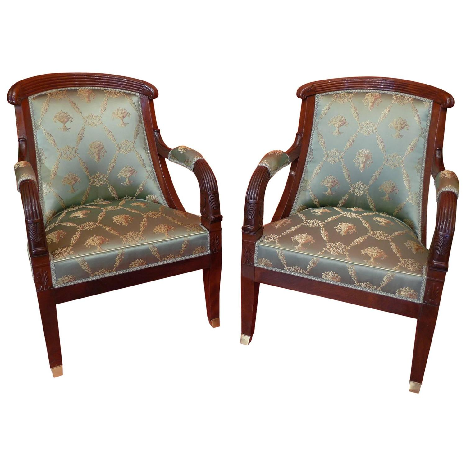 French large pair of early 19th century empire period for Oversized armchairs for sale