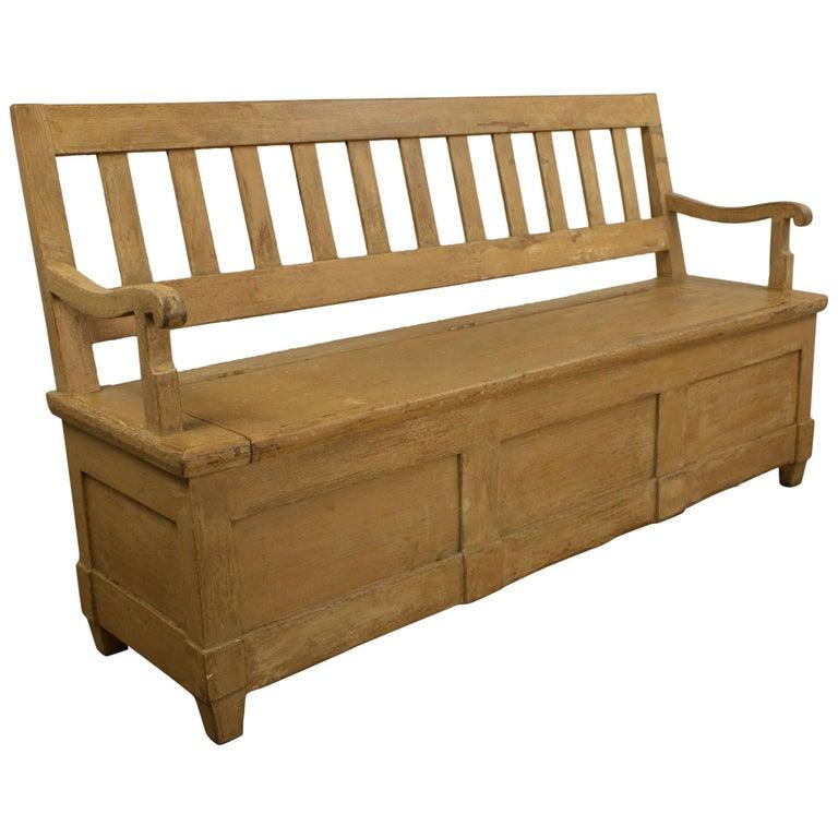 Prime Antique Painted Mixed Wood Settle Machost Co Dining Chair Design Ideas Machostcouk