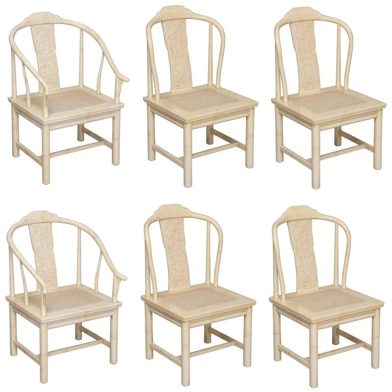 set of six henredon chinoiserie dining chairs at 1stdibs