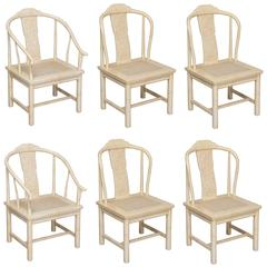 Set of Six Henredon Chinoiserie Dining Chairs