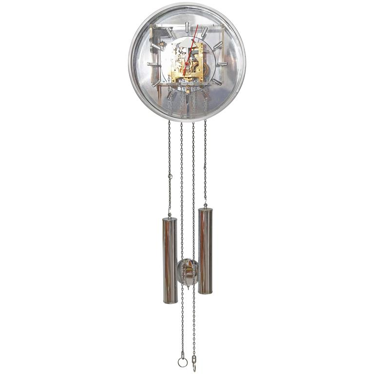 Pendulum clock by george nelson for howard miller for sale at 1stdibs - Stylish pendulum wall clock ...
