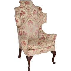 Dynamic Queen Anne Style Chair with Floral Upholstery