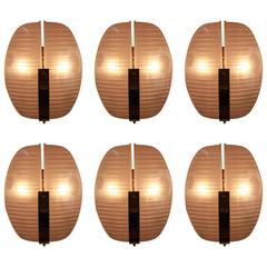Six Pair of Lambda Sconces by Vico Magistretti for Artemide