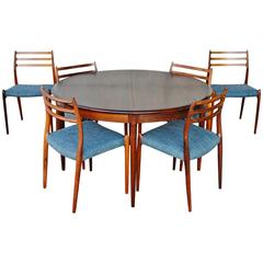 Rosewood Moller Dining Table with Six Chairs