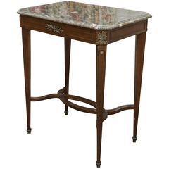 Marble-Topped Side Table