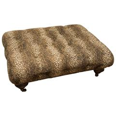 Cheetah Print Ottoman