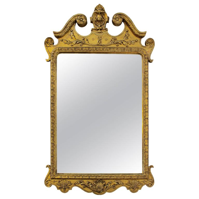 Very Fine George I Gilt Gesso Carved Mirror