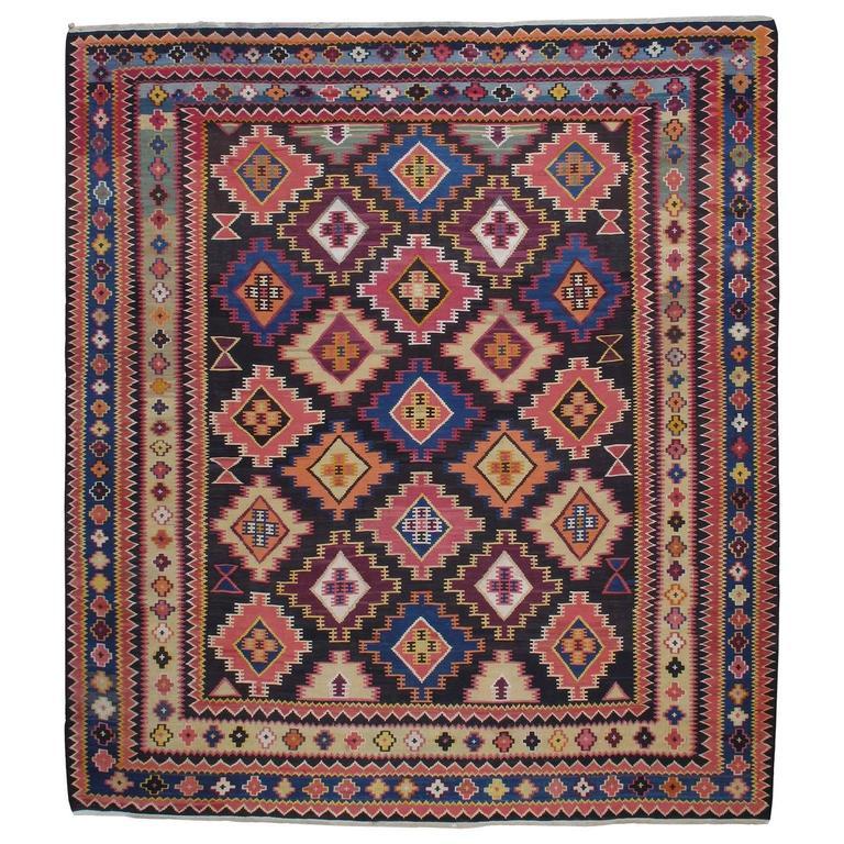 Large Azeri Kilim Rug For Sale