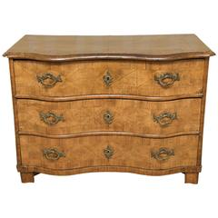 Burled Yew Commode Chest