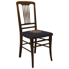 Needlepoint Deco Side Chair