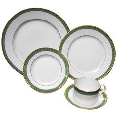 Tiffany & Co. Green Band, Single Place Setting of Five Pieces