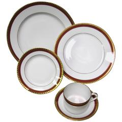 Tiffany & Co. Rust Band Dinner Set of five Pieces