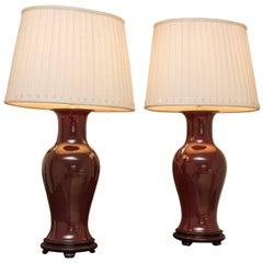 Oxblood Porcelain Lamps