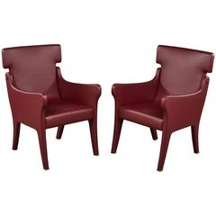 Pair of Ignazio Gardella Leather Chairs