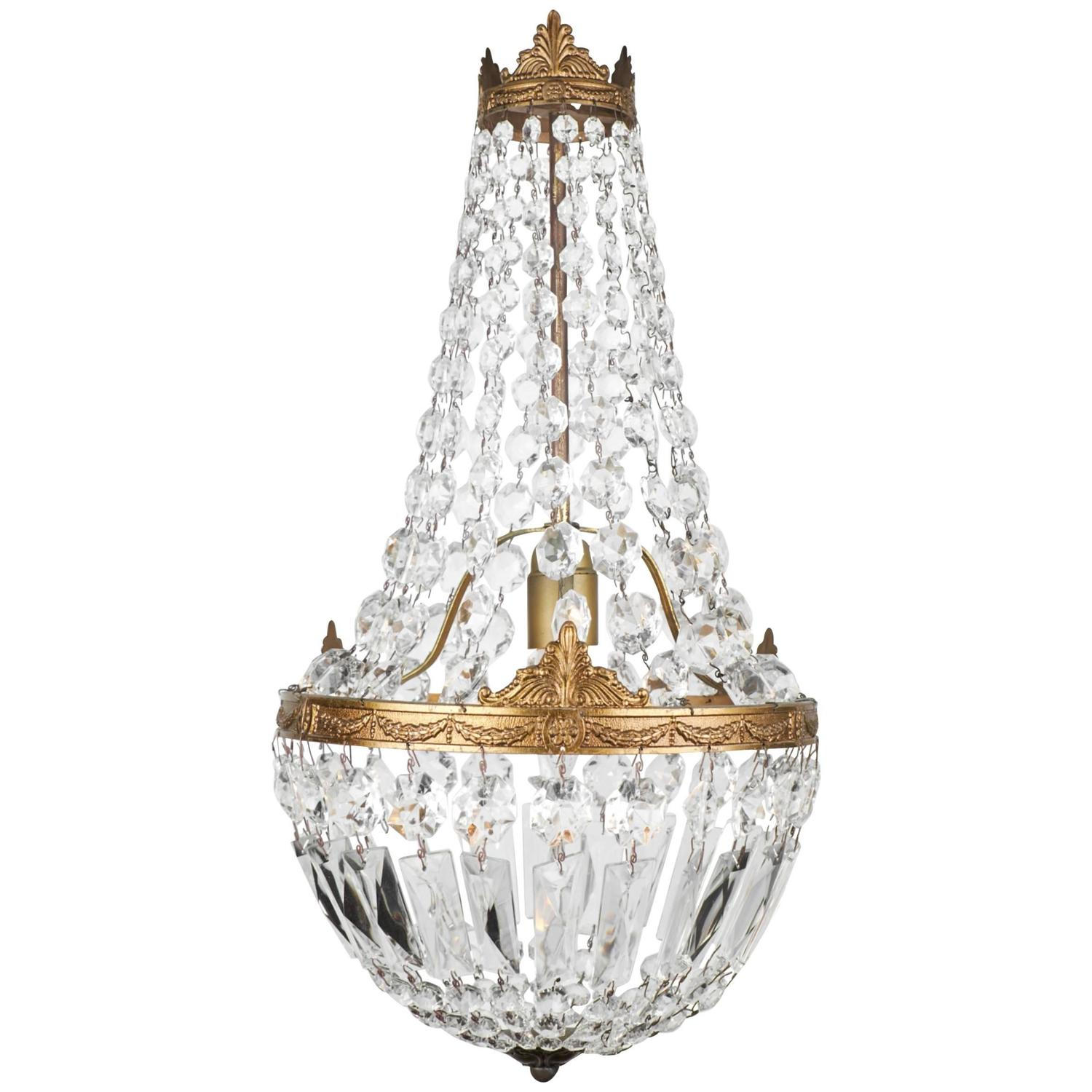 - French Empire Style Crystal Chandelier At 1stdibs