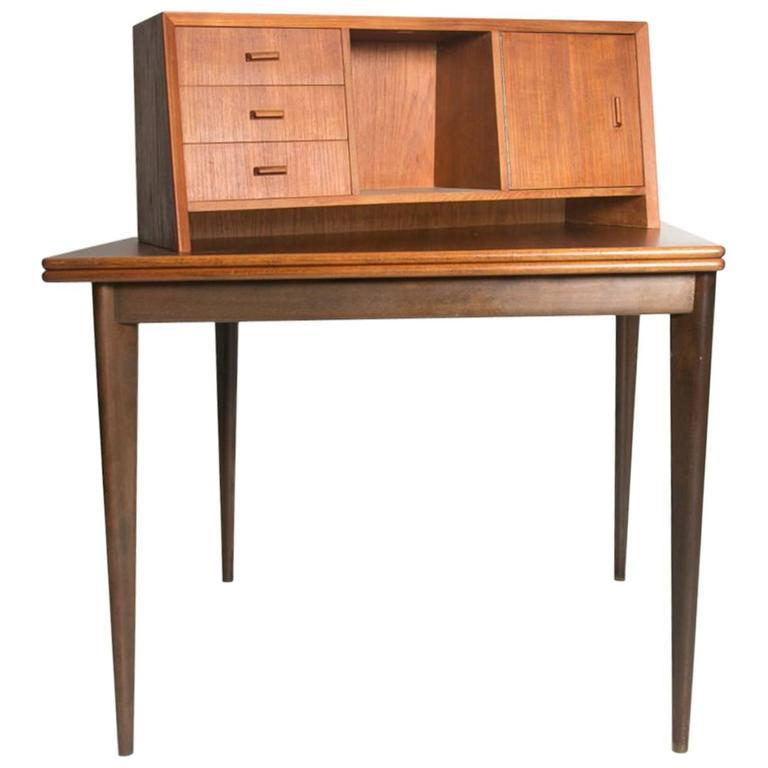 Danish Teak Secretary Desk or Hutch