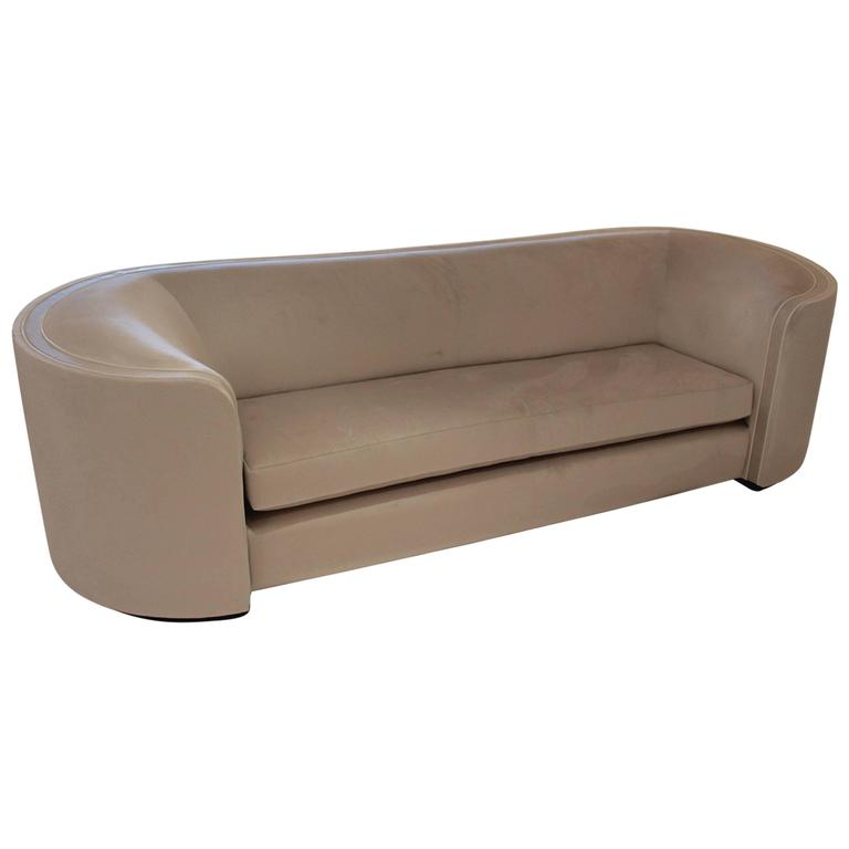 Elegant and Modern Sofa with Faux Shagreen Stingray and Single Cushion