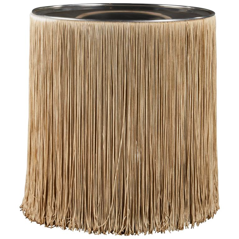 "Dramatic ""597"" Fringed Table Lamp by Gianfranco Frattini for Arteluce 1"